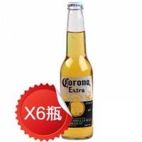 科罗娜 特级瓶装啤酒 330ml(6瓶) 墨西哥进口