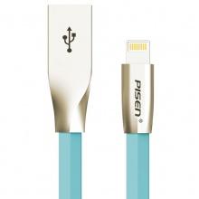 品胜(PISEN)锌合金Apple Lightning数据充电线1M(蓝色)适用于苹果手机iphoneX/Xs/XR/8/7/6、iPad通用