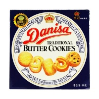 皇冠(Danisa)丹麦曲奇黄油曲奇饼干 下午茶零食 90g 盒装 印尼进口