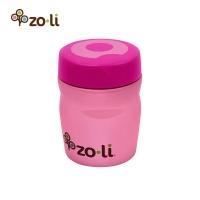 Zoli 宽口食品级不锈钢宝宝婴儿保温汤罐辅食保温壶 360ml 粉色 美国原装进口