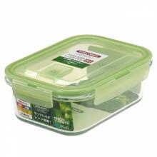 阿司倍鹭( ASVEL)日本ASVEL玻璃保鲜盒750ml-绿