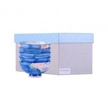 古伊烧 东玉内外花语5入日式陶瓷饭碗礼盒 5个装 A-92-5P 5色 礼盒装